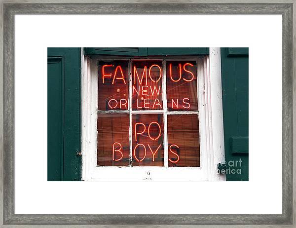 New Orleans Po Boys Framed Print