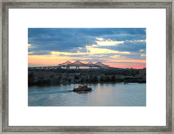 Framed Print featuring the photograph New Orleans Riverfront by Barry Jones