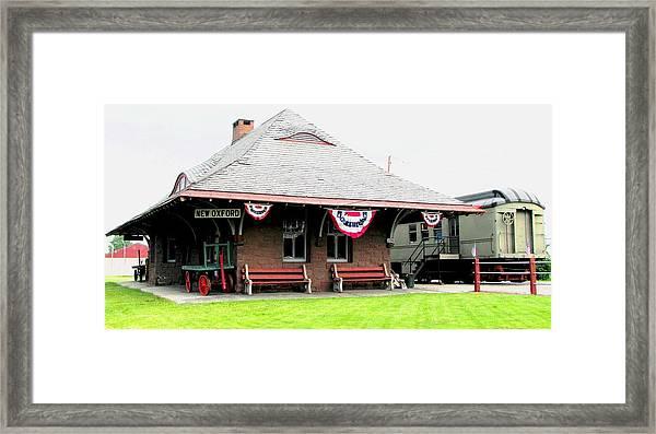 New Oxford Pennsylvania Train Station Framed Print