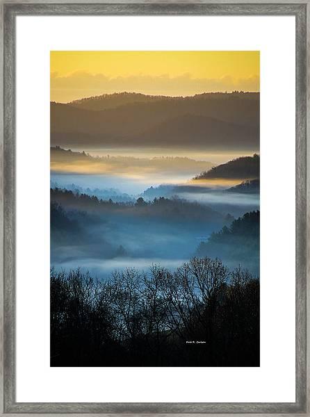 New River Fog Framed Print