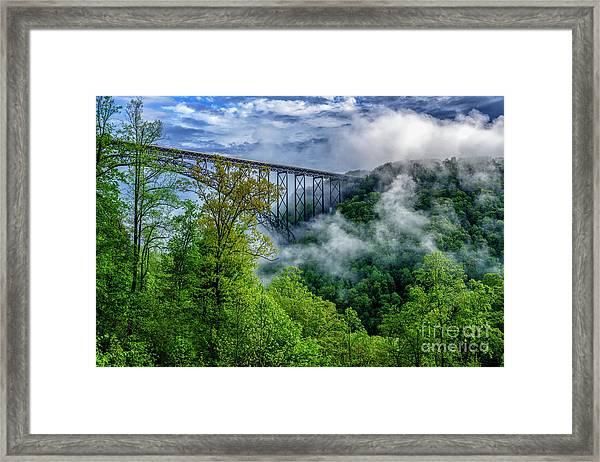 New River Gorge Bridge Morning  Framed Print