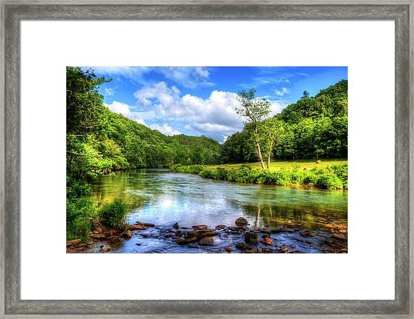 New River Summer Framed Print