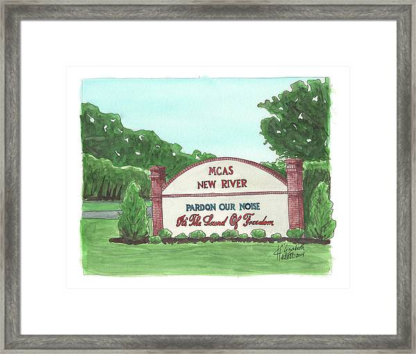 New River Welcome Framed Print