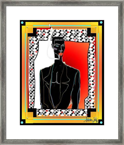 Framed Print featuring the digital art Amazing Grace Jones by Larry Talley