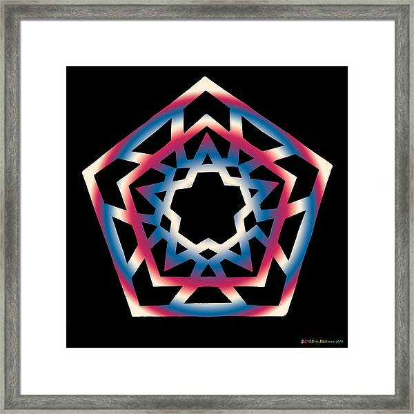 New Star 4d Framed Print