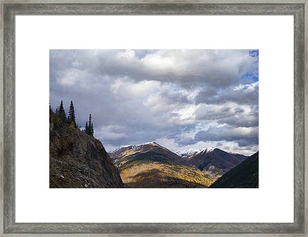 Peeking At The Peaks Framed Print