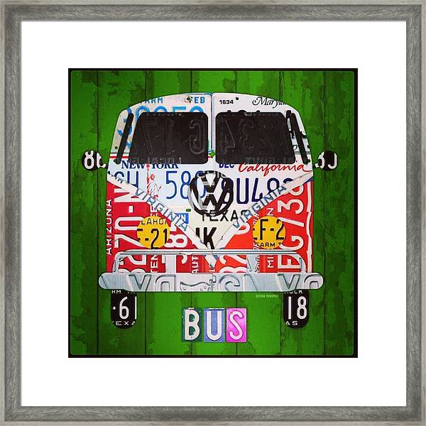 New #vw License Plate Art Series Out On Framed Print