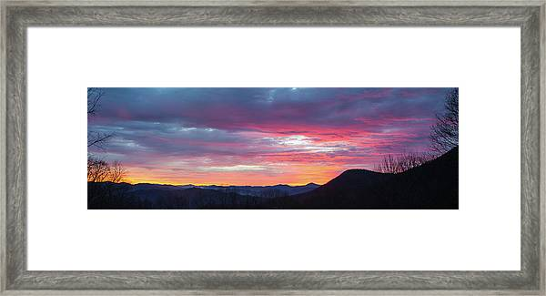 Framed Print featuring the photograph New Year Dawn - 2016 December 31 by D K Wall