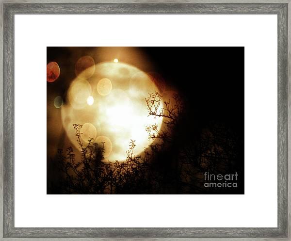 New Year Super Moon Framed Print