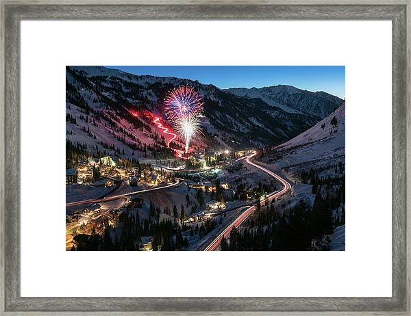 New Year's Eve At Snowbird Framed Print