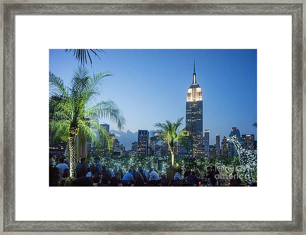 Framed Print featuring the photograph New York 230 Fith Rooftop Bar  by Juergen Held