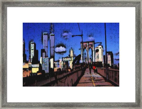 New York Blue - Modern Art Painting Framed Print