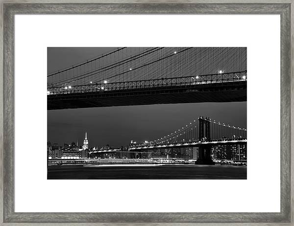 New York Bridges Framed Print