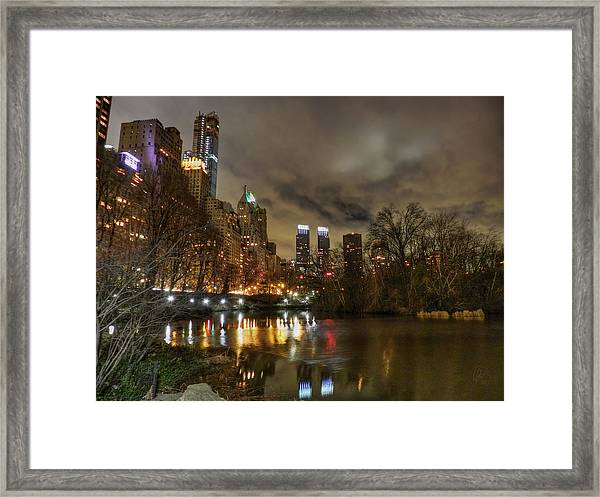 Framed Print featuring the photograph New York - Central Park 008 by Lance Vaughn