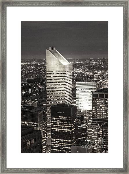 Framed Print featuring the photograph New York Citigroup Center  by Juergen Held