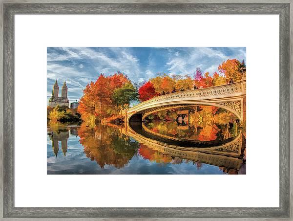 New York City Central Park Bow Bridge Framed Print