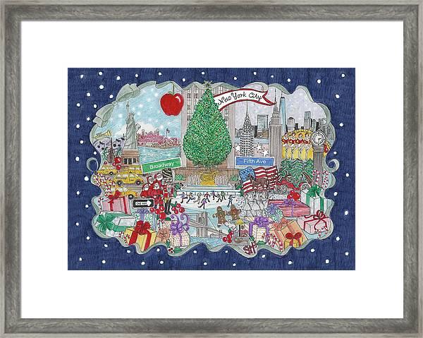 New York City Holiday Framed Print