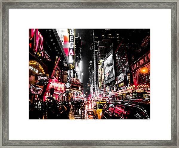 New York City Night II Framed Print