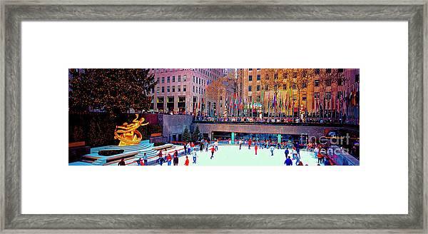 New York City Rockefeller Center Ice Rink  Framed Print