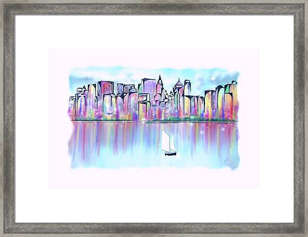 New York City Scape Framed Print