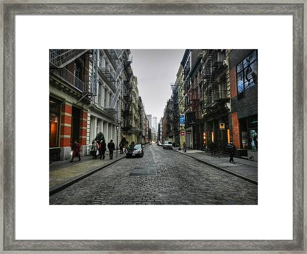 Framed Print featuring the photograph New York City - Soho 003 by Lance Vaughn