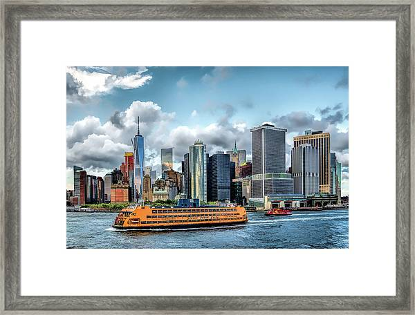 New York City Staten Island Ferry Framed Print