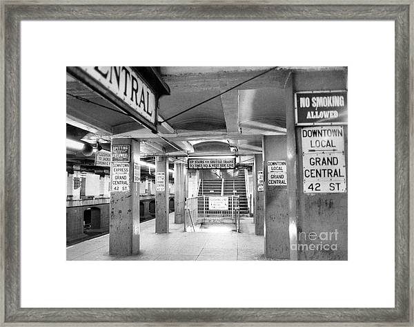 New York City Transit Strikes Leaves Grand Central Station Bare. 1980 Framed Print by William Jacobellis