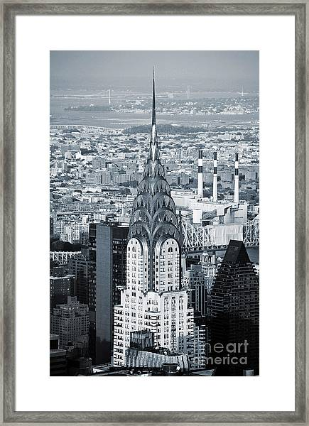 New York City - Usa - Chrysler Building Framed Print