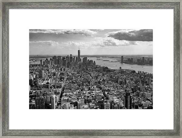 New York City - View From Empire State Building Framed Print