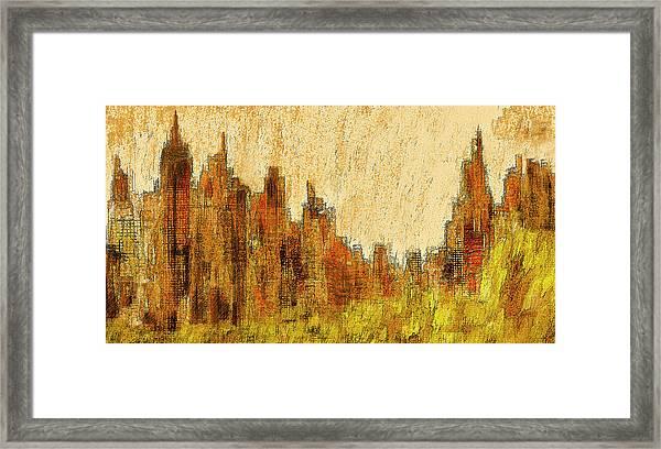 New York City In The Fall Framed Print