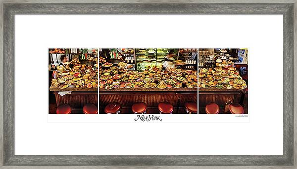 The New York Diner Framed Print