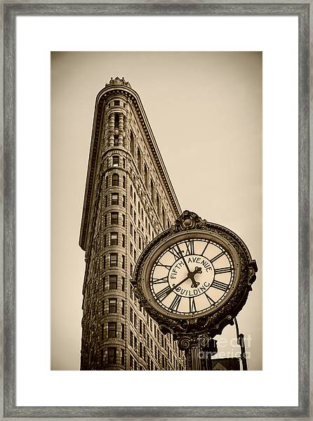 Framed Print featuring the photograph New York Flatiron by Juergen Held