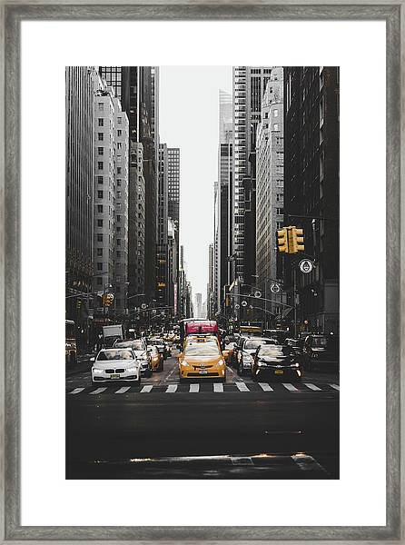 Framed Print featuring the photograph New York by John Arano