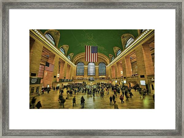 New York Minute Framed Print