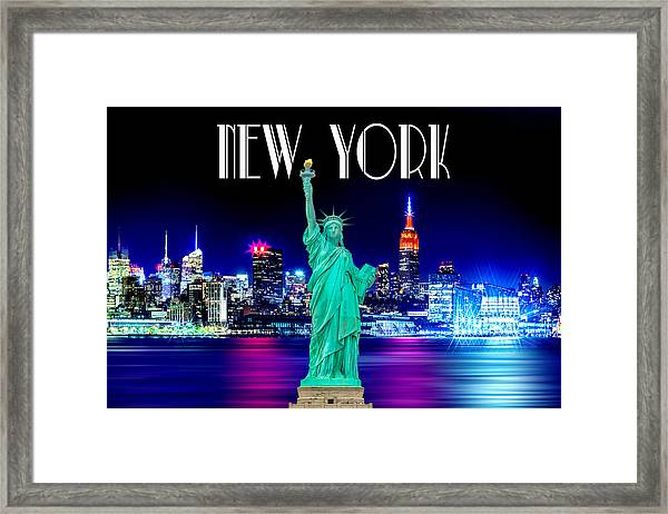 New York Shines Framed Print