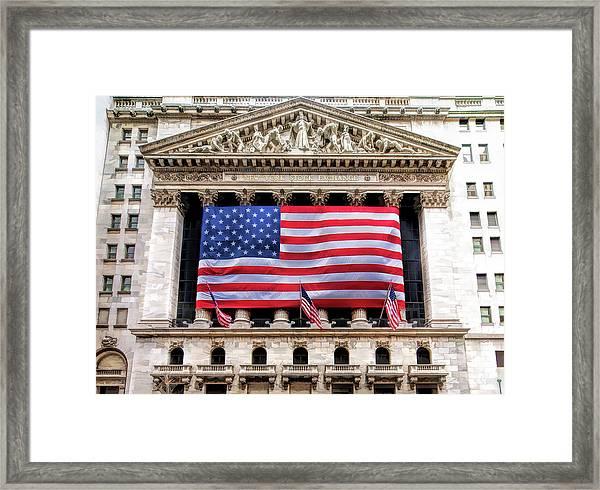 New York Stock Exchange Flag Framed Print