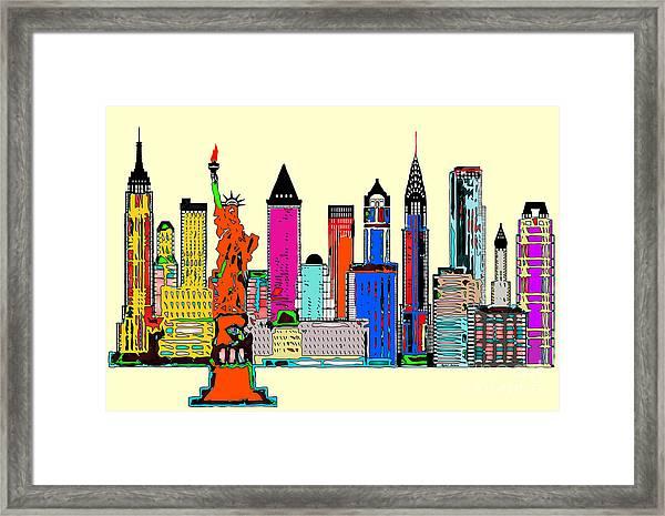 New York - The Big City Framed Print