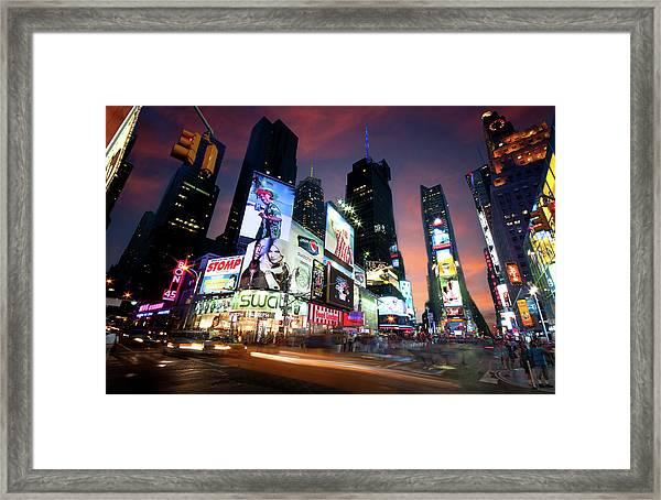 New York Cityscape Framed Print