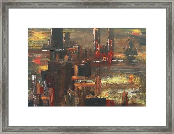 New York Tragedy Framed Print