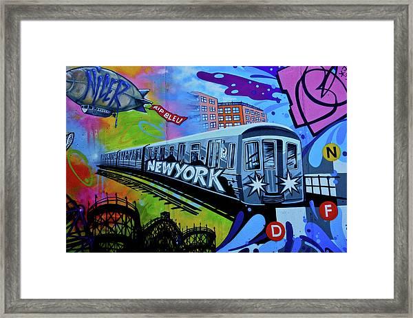 New York Train Framed Print