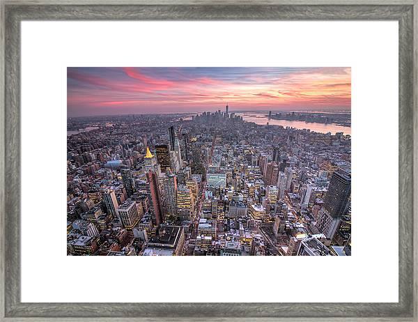 New York Framed Print by Zev Steinhardt