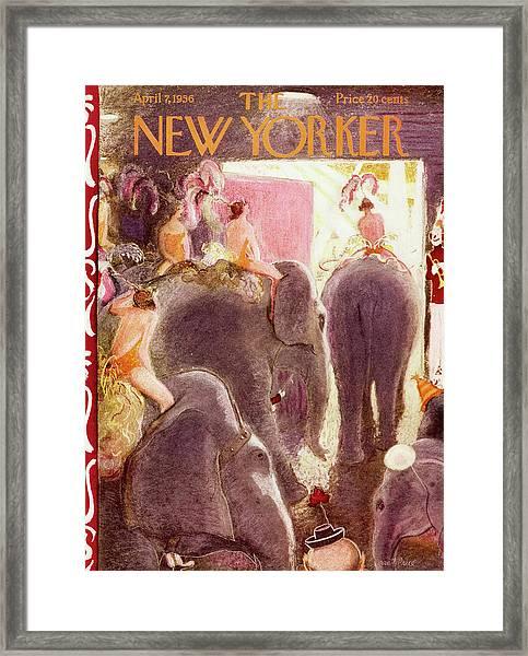New Yorker April 7 1956 Framed Print