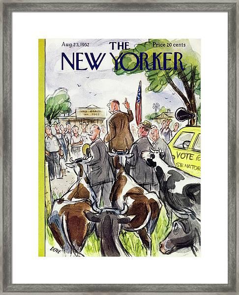 New Yorker August 23 1952 Framed Print