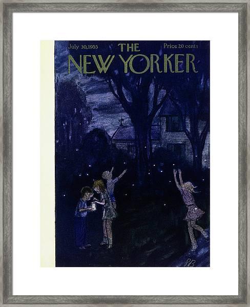 New Yorker July 30 1955 Framed Print