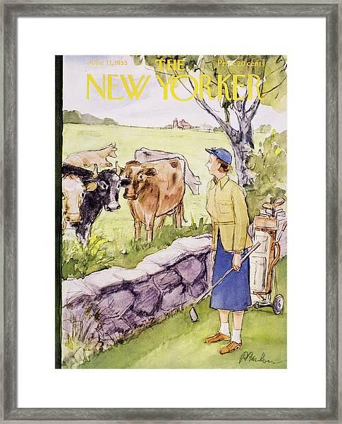 New Yorker June 11 1955 Framed Print