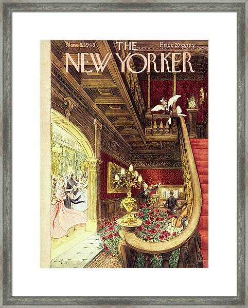 New Yorker Magazine Cover Of A Maid Framed Print