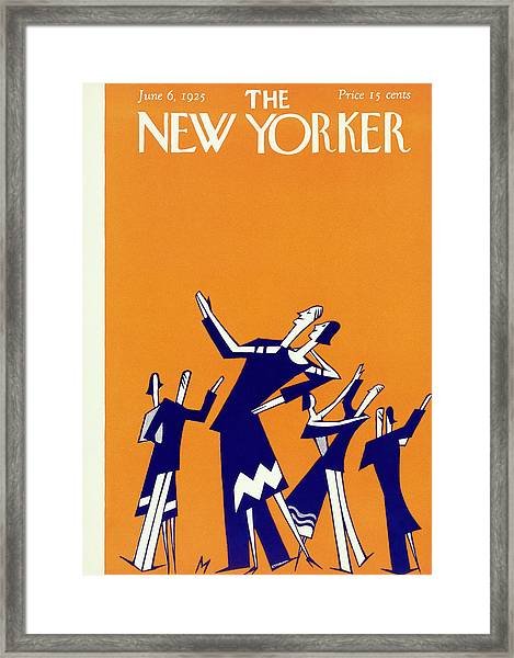 New Yorker Magazine Cover Of Couples Dancing Framed Print