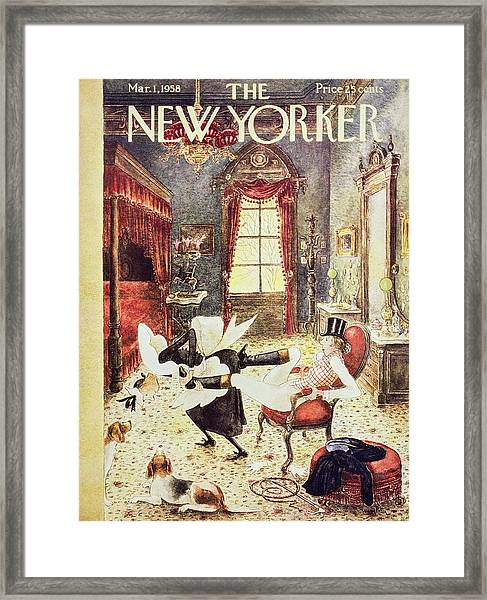 New Yorker March 1 1958 Framed Print