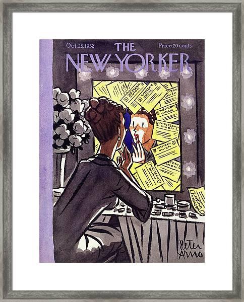New Yorker October 25 1952 Framed Print