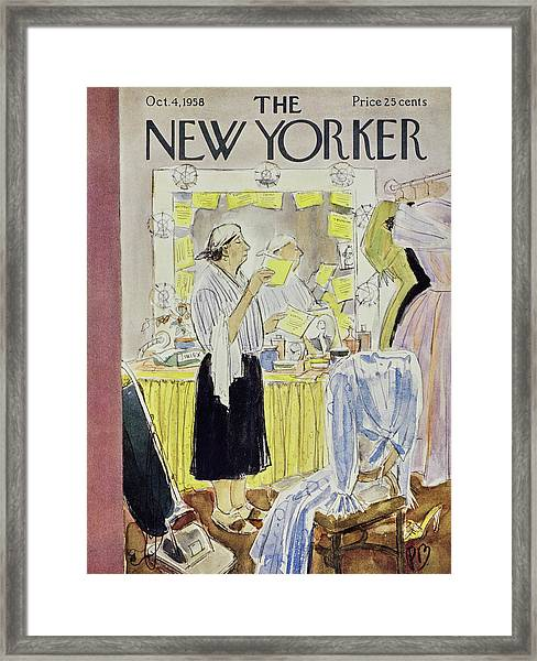 New Yorker October 4 1958 Framed Print